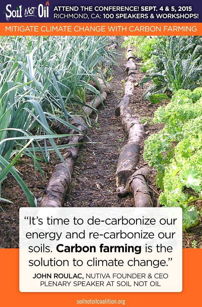 It's time to de-carbonize our energy and re-carbonize our soils. Carbon farming is the solution to climate change.